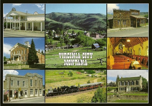 virginia city  montana postcard