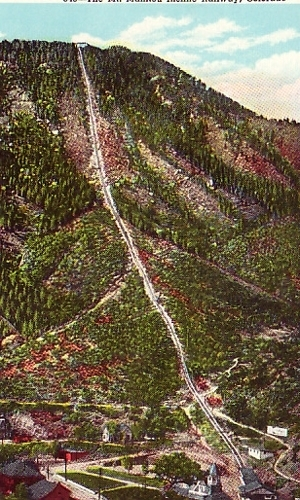 Mt Manitou Incline Railway Colorado