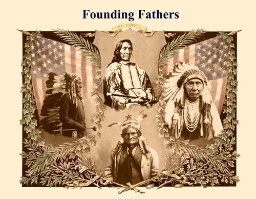 Original Founding Fathers Postcard