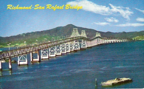 Richmond San Rafael Bridge San Francisco California Postcard