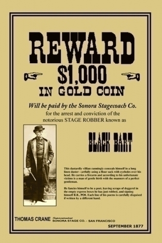 Black Bart Wanted Mini Poster