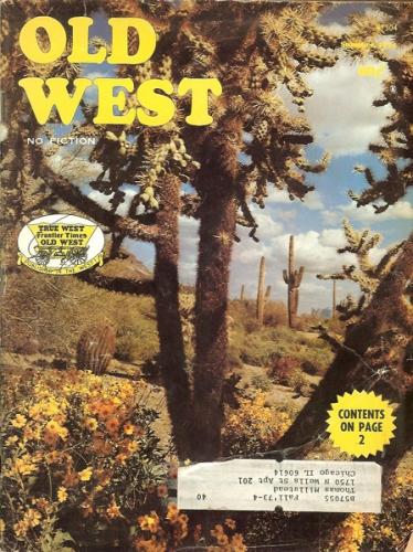 1974 Summer Old West Magazine