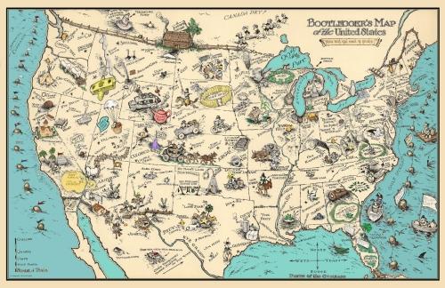 Bootleggers Map 11x17 Poster