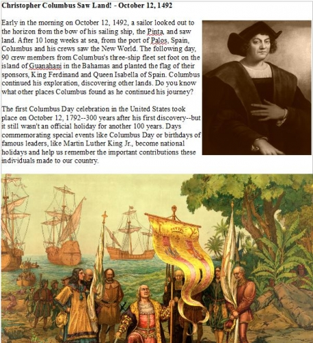 Christopher Columbus EArticle