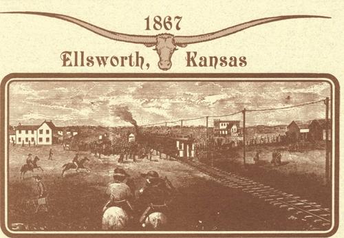 Ellsworth KS Cattle Buyers Postcard