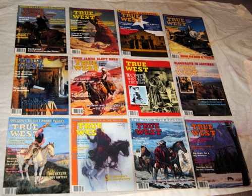 12 True West Magazines - 1985 to 19882, very good condition