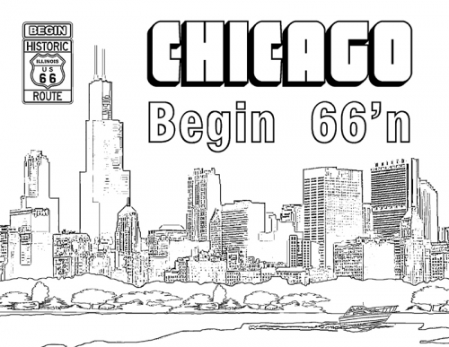 Chicago Illinois Skyline Coloring