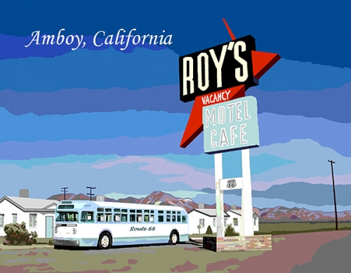 California Amboy California Custom Postcard