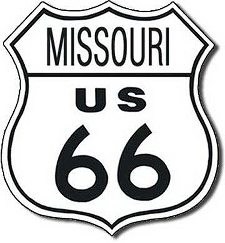 Missouri Route 66 Road Sign