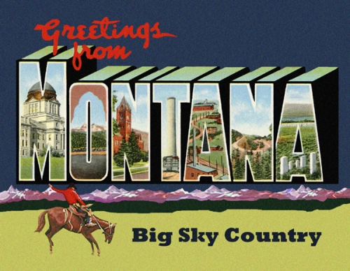 Greetings from montana postcard m4hsunfo