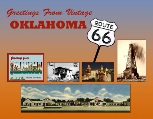 Oklahoma Greetings From Vintage