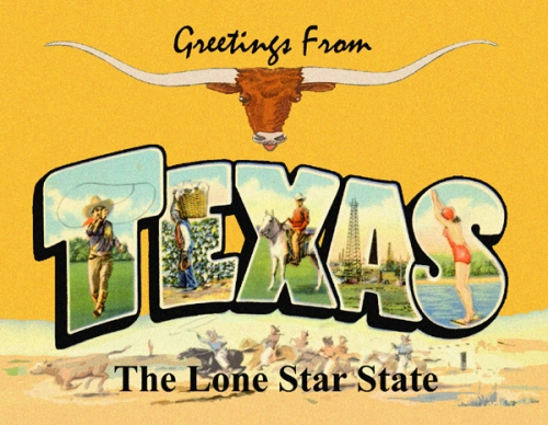 Greetings from texas postcard texas greetings m4hsunfo