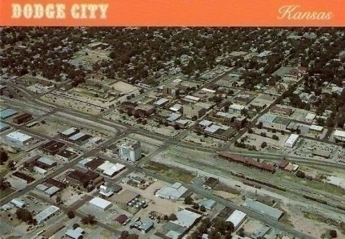Aerial View Dodge City Kansas