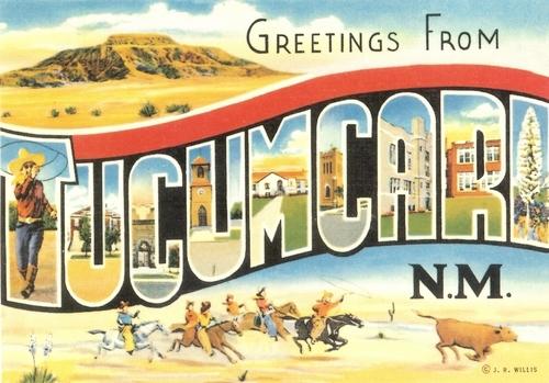 Tucumcari New Mexico Greetings Postcard