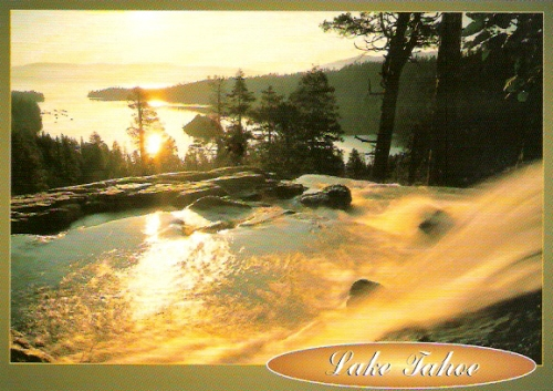 Eagle falls lake tahoe california postcard for Lake tahoe jewelry stores