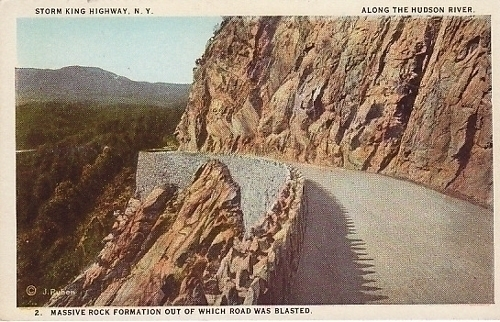 Storm King Highway New York Along Hudson River Postcard