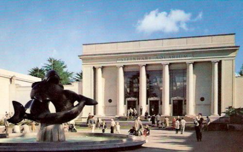Whale Fountain Steinhart Aquarium San Francisco Postcard