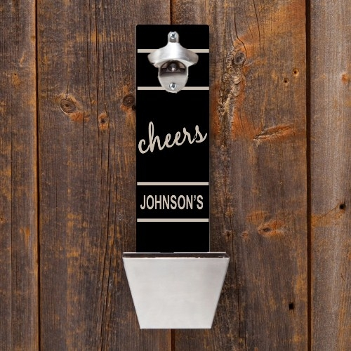 Wall Mounted Bottle Opener Amp Cap Catcher Personalized