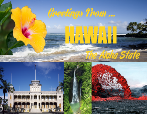 Greeting From Hawaii The Aloha State Postcard