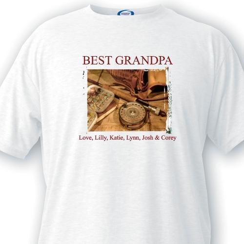 Fishing Memories Grandpa TShirt