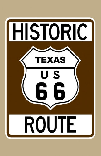 Historic Route 66 Texas Sign Poster