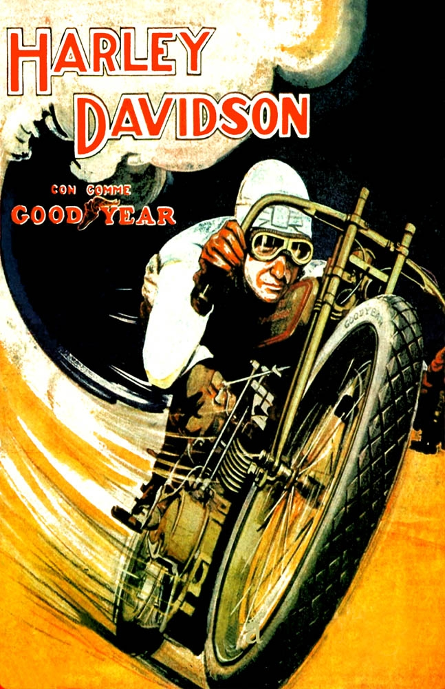 Harley Davidson Good Year  1918  11x17 Poster
