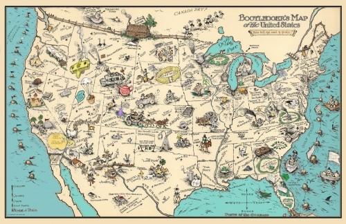 Bootleggers map 11x17 poster gumiabroncs Images
