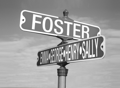 Personalized Street Signs >> Black and White Street Sign Canvas - 24x18 (Personalized)