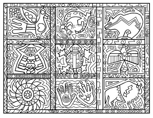 Native American Symbols - Coloring Article (Download)