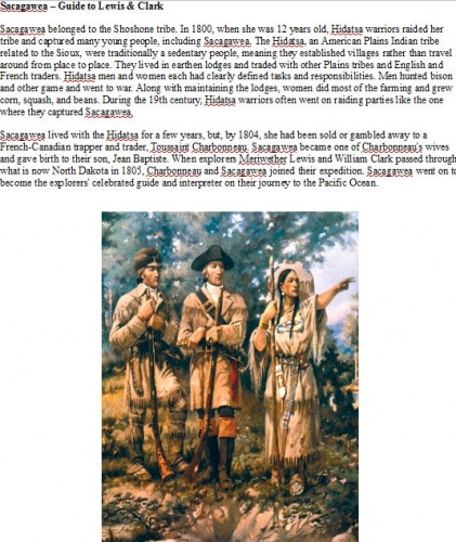 Sacagawea E-Article Free Digital Download