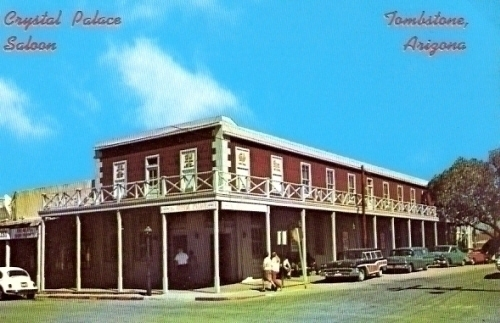 Crystal Palace Saloon Tombstone Arizona Postcard