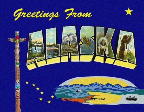 Alaska greetings custom postcard m4hsunfo