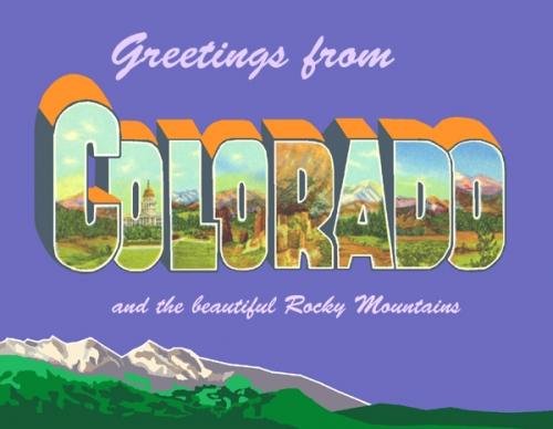 Greetings Colorado Postcard