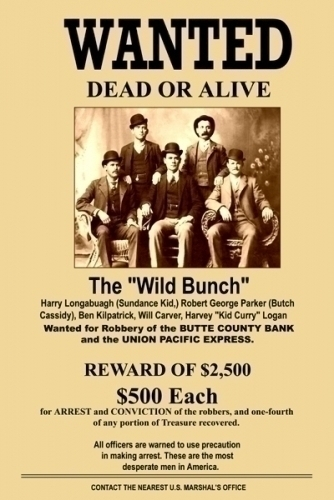 Wild Bunch Wanted Dead Or Alive