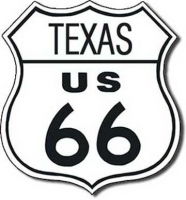 Texas Route 66 Road Tin Sign