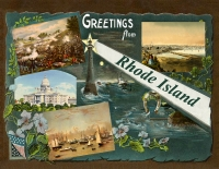 Rhode Island Greetings Custom Postcard