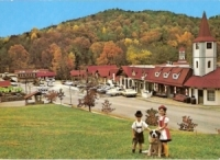 Fall in Alpine Village, Georgia Postcard