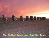 Texas - Cadillac Ranch Near Amarillo, Texas