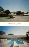 Flamingo Motel, Salina, Kansas Postcard