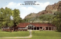 Latchstring Inn, Black Hills, South Dakota Postcard