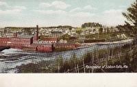 Panorama of Lisbon Falls, Maine