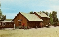 Depot, Nevada City, Montana Postcard