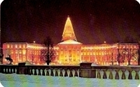 Denver Colorado Civic Center, Christmas Postcard