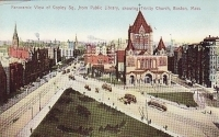 Panoramic View of Copley Square from Public Library, showing Trinity Church, Boston, Massachusettes