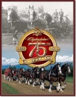 Budweiser - Clydesdales 75th annv Tin Sign