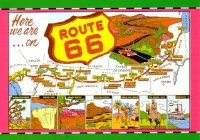 Here We Are- Route 66 Postcard