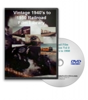 Railroad Film Library DVD- 1940's to 1950