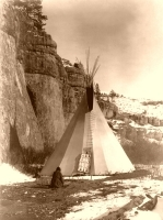 Apsaroke Crow Tipi Print or Canvas - Starting @ $12.99