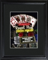 Marquee Nighttime Royal Flush Poker Framed Print