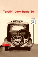 Toodlin' Down Route 66 11x17 Poster